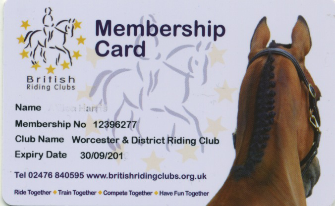 Membership Application - Worcester & District Riding Club